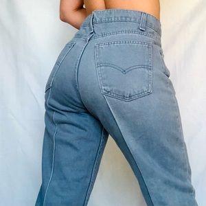 VTG 80s Levi's Orange Tab Pintuck Gray Denim Jeans